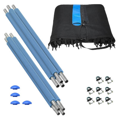 Upper Bounce Trampoline Enclosure Set  to fit 12 ft  for 2 or 4 W-Shaped Legs (Net Poles & HardwareOnly)