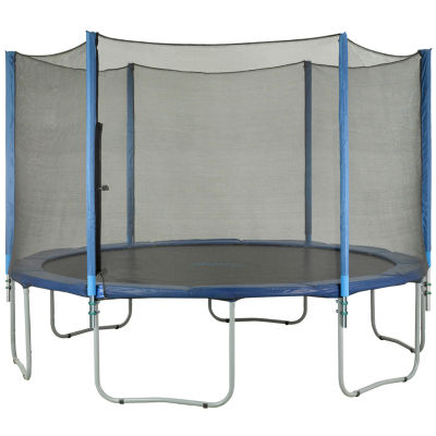 Upper Bounce Trampoline Enclosure Set  to fit 12 ft  for 3 or 6 W-Shaped Legs (Net Poles & HardwareOnly)