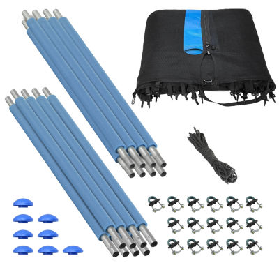 Upper Bounce Trampoline Enclosure Set  to fit 13 ft  for 4 or 8 W-Shaped Legs (Net Poles & HardwareOnly)