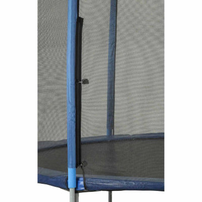 Upper Bounce Trampoline Enclosure Set- to fit 15 FT. Round Frames- for 3 or 6 W-Shaped Legs -Set Includes: Net- Poles & Hardware Only
