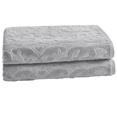 Loft By Loftex Trellis Sculpted Jacquard 2-Pc. Bath Towel Set