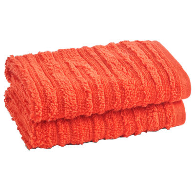 Loft By Loftex Cascading 2-Pc. Washcloth Towel Set