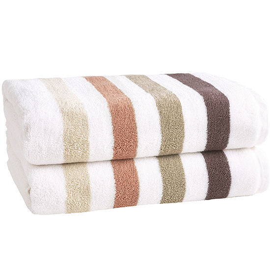 Loft By Loftex Bars 2-Pc. Bath Towel Set