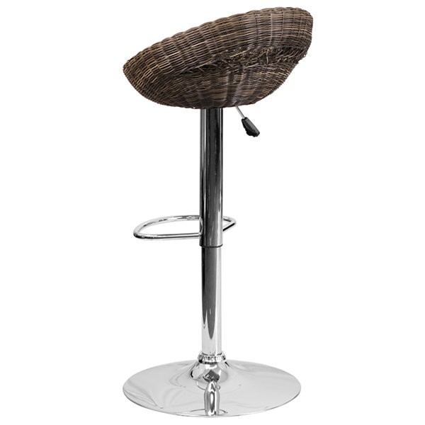 Wicker Adjustable Bar Stool