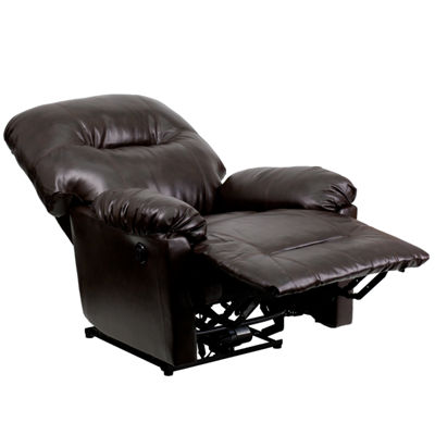 Contemporary Power Chaise Recliner with Push Button
