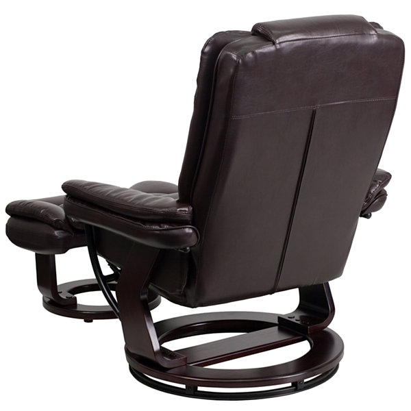Leather Pad-Arm Recliner