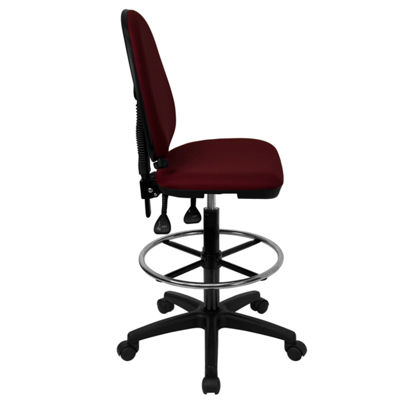 Mid-Back Multi-Functional Drafting Chair with Adjustable Lumbar Support