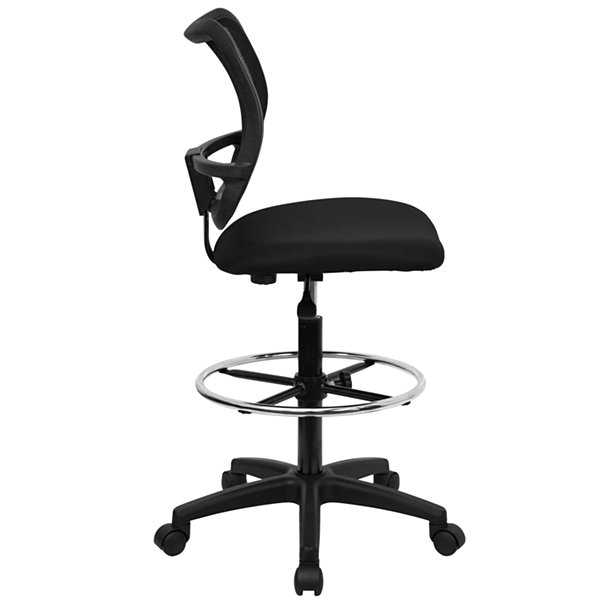 Contemporary Armless Mesh-Back Drafting Stool