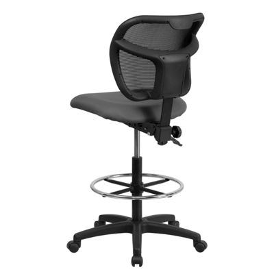 Mid-Back Mesh Drafting Chair with Seat