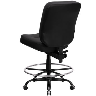HERCULES Series 400 lb. Capacity Big & Tall Drafting Chair with Extra WIDE Seat