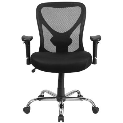 HERCULES Series Big & Tall 400 lb. Rated Mesh Swivel Task Chair with Height Adjustable Back and Arms