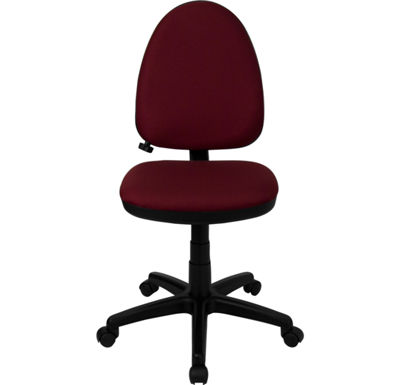 Mid-Back Fabric Multifunction Swivel Task Chair with Adjustable Lumbar Support