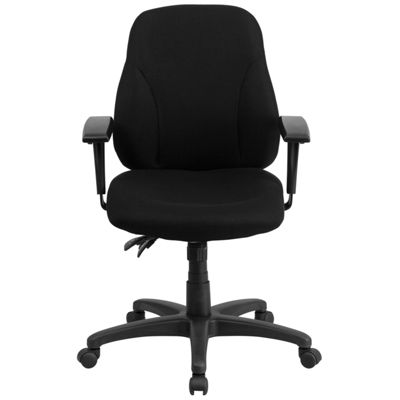 Mid-Back Fabric Multifunction Ergonomic Swivel Task Chair with Adjustable Arms