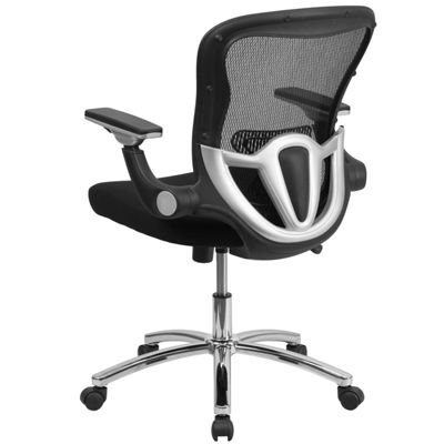 Mid-Back Mesh Executive Swivel Chair with Height Adjustable Flip-Up Arms