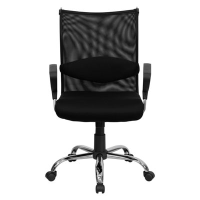 Mid-Back Mesh Swivel Manager's Chair with Adjustable Lumbar Support and Arms