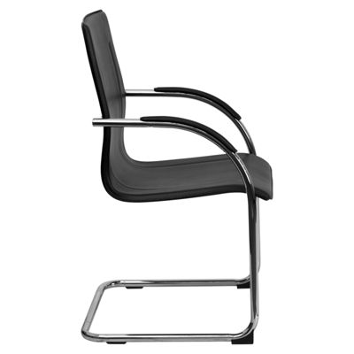 Vinyl Side Reception Chair with Chrome Sled Base