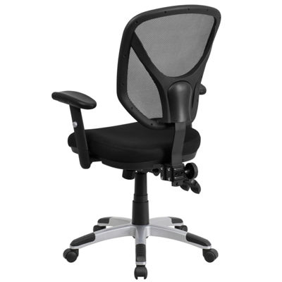 Mid-Back Mesh Multifunction Swivel Task Chair withAdjustable Arms