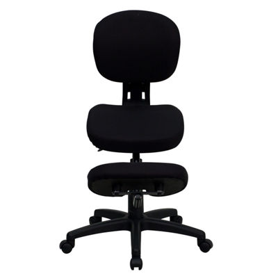 Mobile Ergonomic Kneeling Posture Task Chair withBack