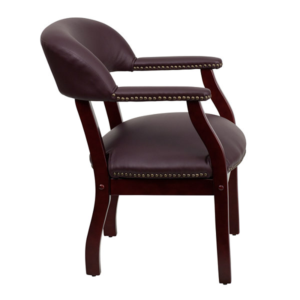 Traditional Italian Leather Captains Office Chair
