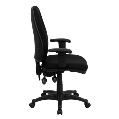 High Back Fabric Executive Swivel Chair with Adjustable Arms