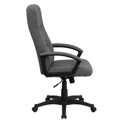 High Back Fabric Executive Swivel Chair with Arms