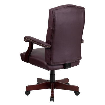 Tufted Design Leather Office Chair