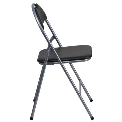HERCULES Series Vinyl Metal Folding Chair with Carrying Handle