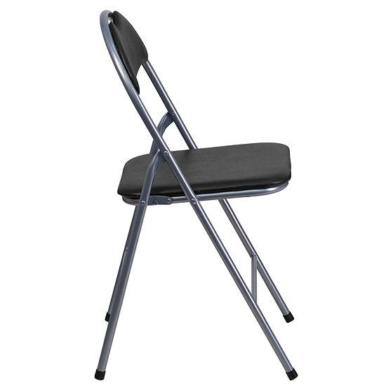 HERCULES Series Vinyl Metal Folding Chair with Carrying Handle