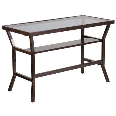 Dark Gray Tempered Glass Desk