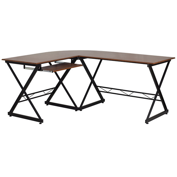 Teakwood Laminate L-Shape Desk