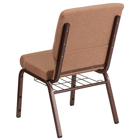HERCULES Series 18.5''W Church Chair with Book Rack
