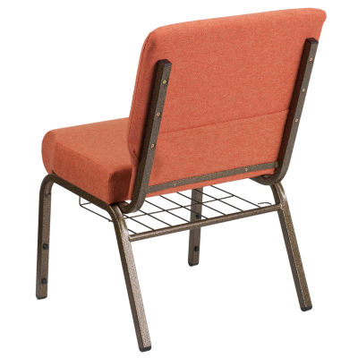 Hercules Series Fabric Side Chair with Book Rack