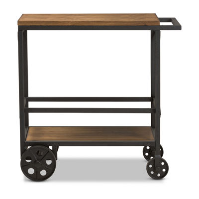Baxton Studio Chester Mobile Serving Cart