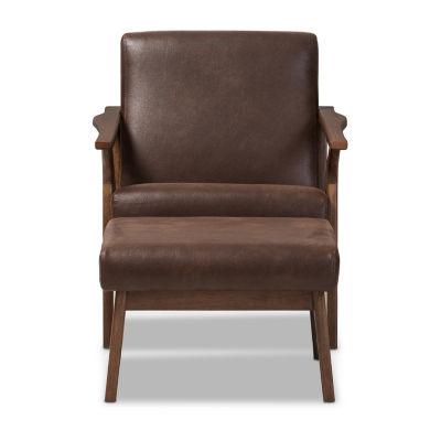 Baxton Studio Bianca Chair And Ottoman Set