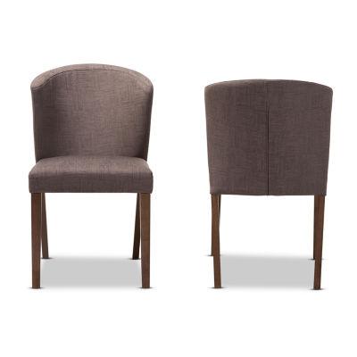 Baxton Studio Cassie 2-Piece Dining Chair Set