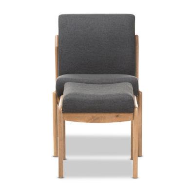 Baxton Studio Wera Chair And Ottoman Set