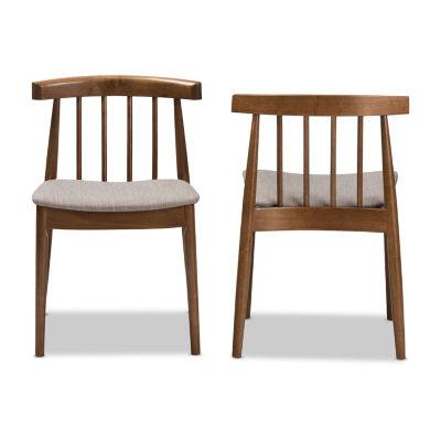 Baxton Studio Wyatt 2-Piece Dining Chair Set