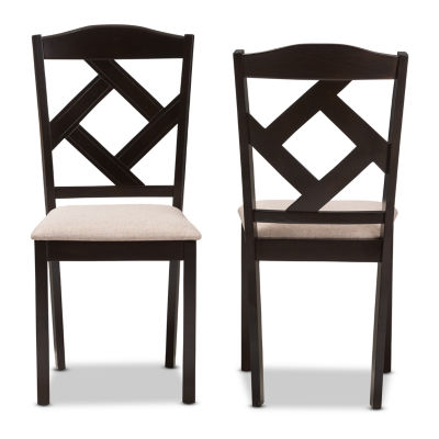 Baxton Studio Ruth 2-Piece Dining Chair Set