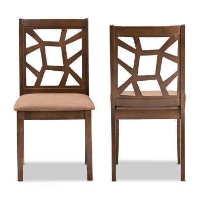 Baxton Studio Abilene 2-Piece Dining Chair Set