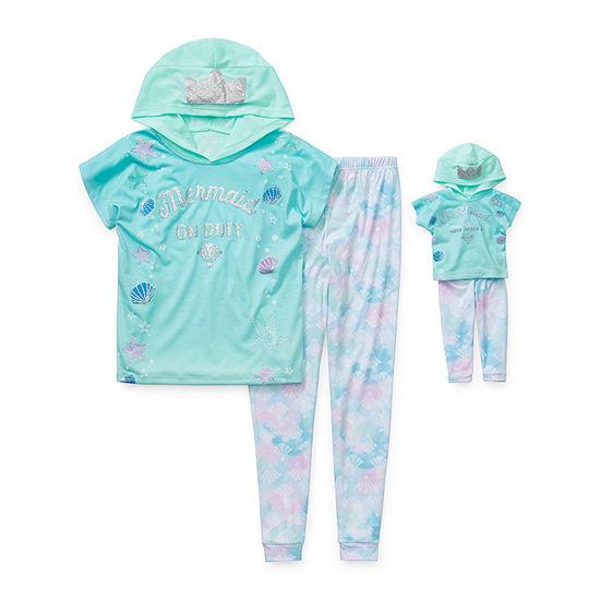 Little Kid / Big Kid Girls 2-pc. Pant Pajama Set