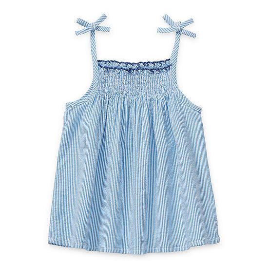 Okie Dokie Toddler Girls Square Neck Tank Top
