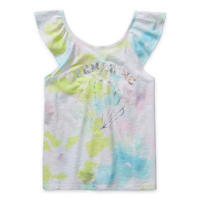 Arizona Little & Big Girls Scoop Neck Tank Top