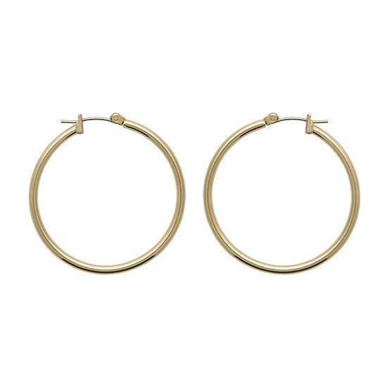 Bold Elements 1 Pair Hoop Earrings