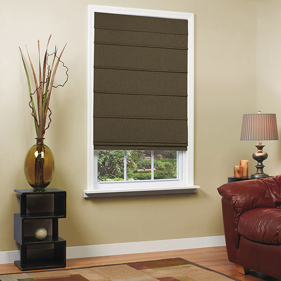 Home Expressions Textured Cordless Room Darkening Roman Shade