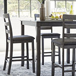Signature Design by Ashley Brisben 5-pc. Counter Height Square Dining Set