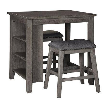 Signature Design by Ashley Caitir 3-pc. Counter Height Rectangular Dining Set