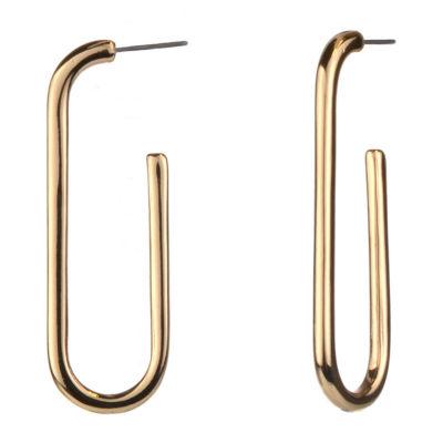 Worthington Gold Tone Hoop Earrings