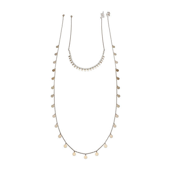 a.n.a Gold Tone 36 Inch Beaded Necklace