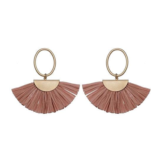 a.n.a Pink Raffia Drop Earrings