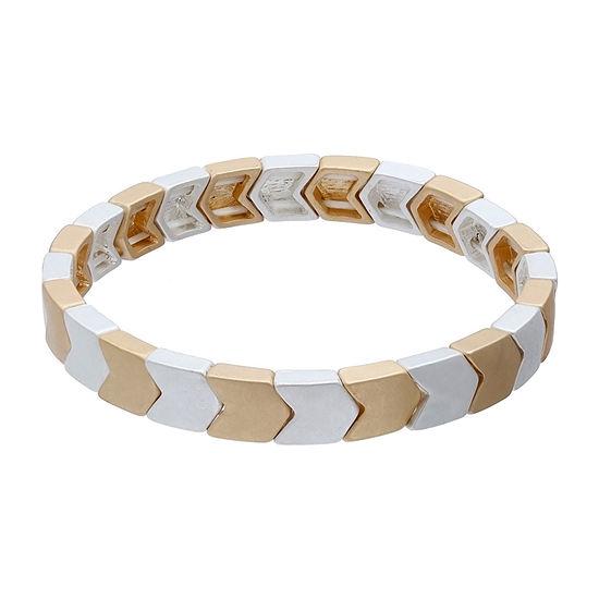 a.n.a Two Tone Arrow Stretch Bracelet